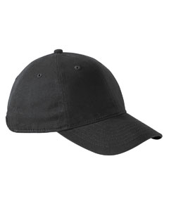 Black Performance Front-Hit Relaxed Cap