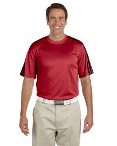 University Red/black Men's ClimaLite® 3-Stripes T-Shirt
