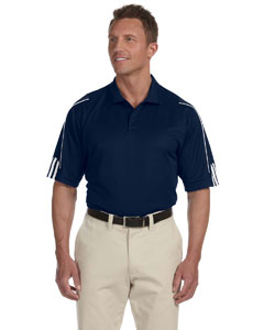 Collegiate Navy/white Men's ClimaLite® 3-Stripes Cuff Polo