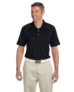 Black/white Men's ClimaLite® Piped Colorblock Polo