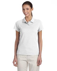White/black Women's ClimaLite® Tour Pique Short-Sleeve Polo