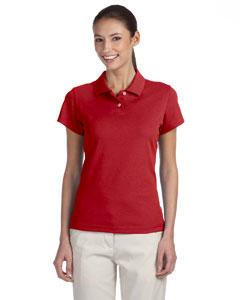 University Red/black Women's ClimaLite® Tour Pique Short-Sleeve Polo