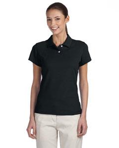 Black/white Women's ClimaLite® Tour Pique Short-Sleeve Polo