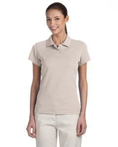 Ecru/white Women's ClimaLite® Tour Pique Short-Sleeve Polo