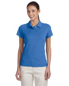 Gulf/white Women's ClimaLite® Tour Pique Short-Sleeve Polo