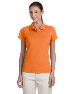Tigerlilly/white Women's ClimaLite® Tour Pique Short-Sleeve Polo