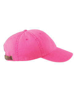 Hot Pink 6-Panel Low-Profile Washed Pigment-Dyed Cap