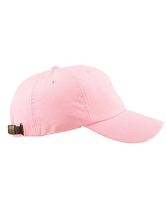 Pale Pink 6-Panel Low-Profile Washed Pigment-Dyed Cap