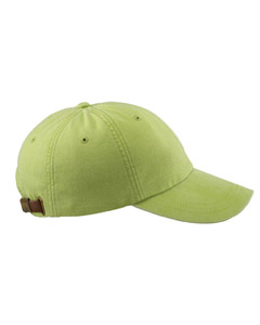 Lime 6-Panel Low-Profile Washed Pigment-Dyed Cap