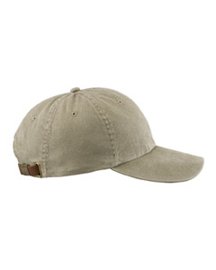 Khaki 6-Panel Low-Profile Washed Pigment-Dyed Cap