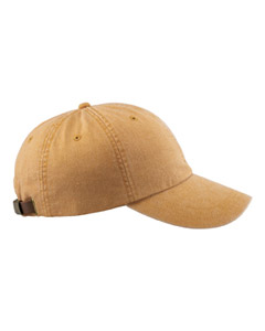 Mustard 6-Panel Low-Profile Washed Pigment-Dyed Cap