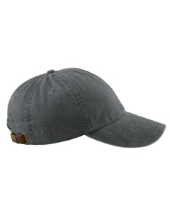 Charcoal 6-Panel Low-Profile Washed Pigment-Dyed Cap