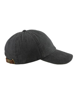 Black 6-Panel Low-Profile Washed Pigment-Dyed Cap