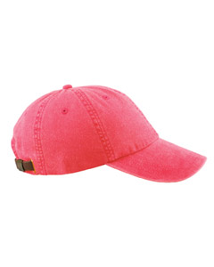 Nautical Red 6-Panel Low-Profile Washed Pigment-Dyed Cap