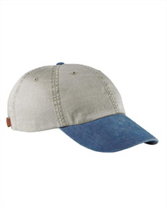 Stone/royal 6-Panel Low-Profile Washed Pigment-Dyed Cap