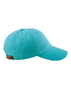 Caribbean Blue 6-Panel Low-Profile Washed Pigment-Dyed Cap