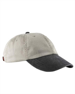Stone/black 6-Panel Low-Profile Washed Pigment-Dyed Cap