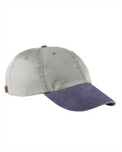 Stone/navy 6-Panel Low-Profile Washed Pigment-Dyed Cap
