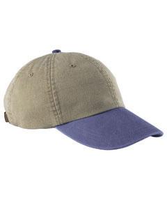 Khaki/royal 6-Panel Low-Profile Washed Pigment-Dyed Cap