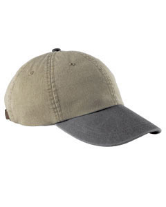 Khaki/charcoal 6-Panel Low-Profile Washed Pigment-Dyed Cap
