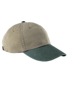 Khaki/forest 6-Panel Low-Profile Washed Pigment-Dyed Cap