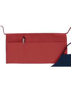 "Red Three-Pocket 10"" Waist Apron"