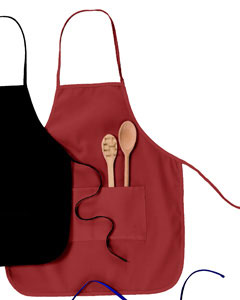"Red Two-Pocket 28"" Apron"
