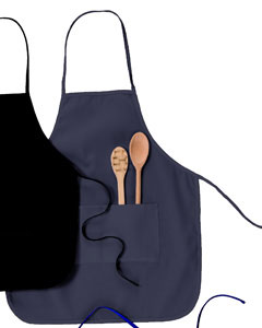 "Navy Two-Pocket 28"" Apron"