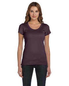 Plum Women's 1x1 Baby Rib Short-Sleeve Scoop Neck T-Shirt