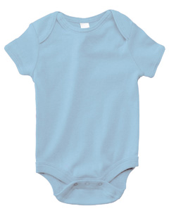 Baby Blue Infant Short-Sleeve Baby Rib One-Piece
