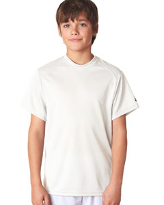 White Youth B-Core Short-Sleeve Performance Tee