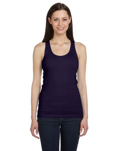Navy Women's 2x1 Rib Racerback Longer Length Tank