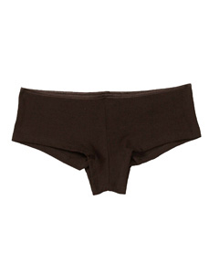 Chocolate Women's Cotton/Spandex Shorties
