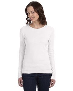 White Women's Baby Rib Long-Sleeve T-Shirt