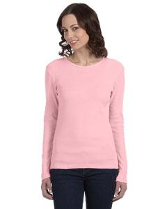 Pink Women's Baby Rib Long-Sleeve T-Shirt