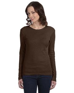 Chocolate Women's Baby Rib Long-Sleeve T-Shirt