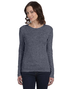 Deep Heather Women's Baby Rib Long-Sleeve T-Shirt