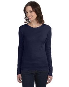 Navy Women's Baby Rib Long-Sleeve T-Shirt