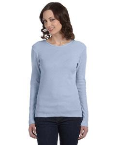 Baby Blue Women's Baby Rib Long-Sleeve T-Shirt