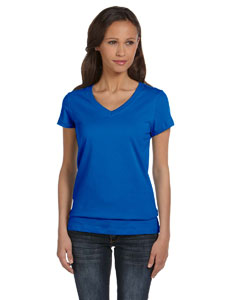 True Royal Women's Jersey Short-Sleeve V-Neck T-Shirt