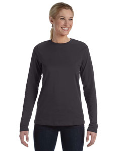 Dark Grey Heather Missy Jersey Long-Sleeve T-Shirt