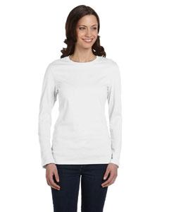White Women's Jersey Long-Sleeve T-Shirt