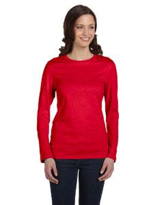 Red Women's Jersey Long-Sleeve T-Shirt