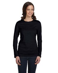 Black Women's Jersey Long-Sleeve T-Shirt
