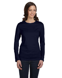Navy Women's Jersey Long-Sleeve T-Shirt