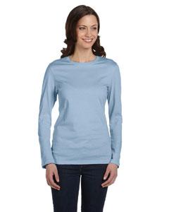 Baby Blue Women's Jersey Long-Sleeve T-Shirt