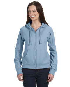 Baby Blue Women's Fleece Full-Zip Raglan Hoodie