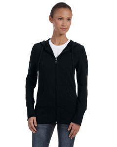Black Women's Stretch French Terry Lounge Jacket