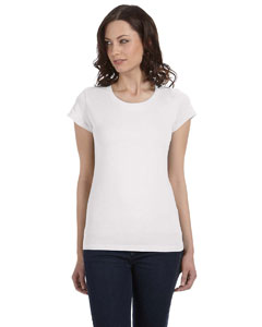 White Women's Sheer Jersey Short-Sleeve T-Shirt
