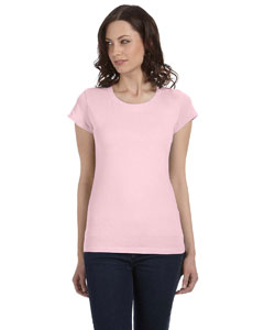 Soft Pink Women's Sheer Jersey Short-Sleeve T-Shirt